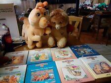 Teddy Ruxpin & Grubby 1985 Vtg Talking Teddy Bear + 8 Books