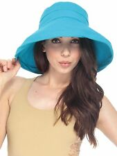 Turquoise Outdoor Safari-Style Bucket Hat w/ Rolled Brim Sun Protection Hat