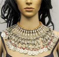 Tribal Banjara Kuchi Boho Afghan Statement Rare Vintage Gypsy  Choker Necklace