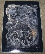 """GODMACHINE Sticker 3 X 4"""" Cast Into Ashes decal like poster art print"""