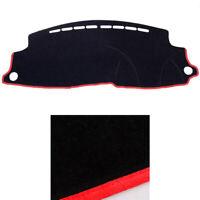 Black Dash Mat Cover BL with Red Line Edge for 2015 ~ 2019 Honda HR-V