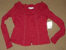 NWT Womens Juniors QUIZZ Ruby Red BLOUSE Size M