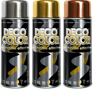 DECO COLOR CHROME EFFECT SPRAY DECORATIVE ART DECOR MIRROR EFFECT METALLIC PAINT