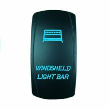 Motor Laser 12V 20A Toggle Rocker Switch Blue LED WINDSHIELD Lighted
