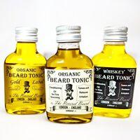 Beard Oil Organic & Vegan Conditioning Beard Tonic, lightly scented or Whiskey