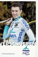CYCLISME carte cycliste BART VERSCHUEREN équipe FIDEA cycling team
