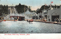 The Chutes, White City, Worcester, Massachusetts, Early Postcard, Unused