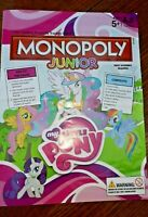 MY LITTLE PONY JUNIOR MONOPOLY SPARE INSTRUCTIONS