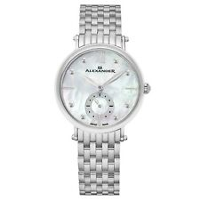 Александр дамы дизайнер швейцарский перламутр кварцевые часы из нержавеющей