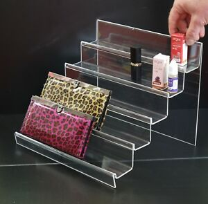 Acrylic Mobile Phone Purse Bag Stand Holder Retail Shop Display Clear PR30C