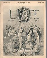 """1894 Life May 24-Croker retires; Kipling;Do away with word """"male?"""" New communion"""
