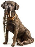 Chocolate Brown Labrador Dog Ornament The Leonardo Collection Walkies Statue NEW
