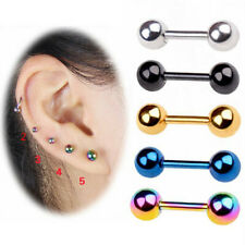 Surgical Steel Stud Earrings Tragus Barbell Piercings Cartilage Conch Helix Stud
