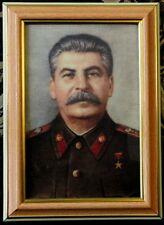 Joseph Stalin Framed Photo Portrait Special Print Metalized Canvas 10 x 15cm
