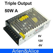 50W Triple output 5V 12V -5V Switching power supply smps AC to DC