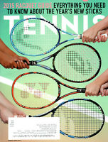 tennis magazine march/april 2015 racquet guide cici bellis milos raonic