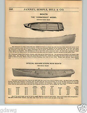 1936 PAPER AD Cormorant Model Clear Cedar Wood Wooden Boat Row Boats