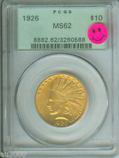 1926 $10 Indian Eagle Pcgs Ms62 Ms-62 Ogh ! Pq +