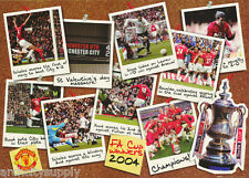 POSTER - SOCCER- MANCHESTER UNITED - F.A.CUP 2004 -FREE SHIP #SP0192 RW20 H