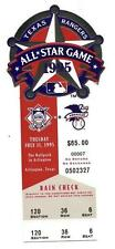1995 MLB All Star Game Full Ticket Texas Rangers