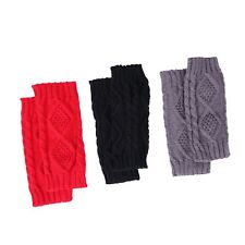 Fingerless Gloves Women's Crochet Cable Knit Wrist, Hand, Arm Warmers (3 Pack)