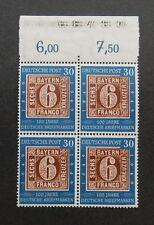 Bund 115 ** 100 J. Briefmarken mit Oberrand  Viererblock geprSchlegel