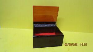 Antique Art Deco  Butterscotch & Brown Bakelite Trinket  or cigarette box