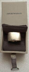 Emporio Armani men's chunky silver ring. VCG