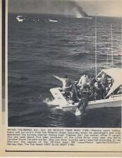 Rescue from boat fire- Passing sport Fishing 10/10/87 LASER-  Press Photo