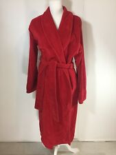 Victoria's Secret XS Small Red Turkish Cotton Terry Cloth Spa Luxury Bath Robe