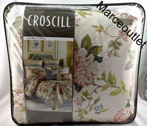 Croscill Home Carlotta 4 Piece KING Comforter Set Floral Multi