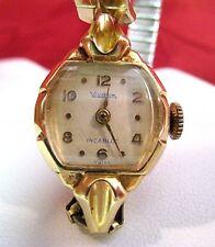 VINTAGE WALTHAM INCABLOC 14K SOLID GOLD LADIES WATCH WORKS