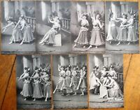 Dancing Women 'Terpsichore' 1902 SET OF SEVEN French Fantasy Postcards