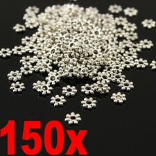 150PCS Spacer 4mm Tibetan Silver Blossom Bud Metal Alloy Bead Cap Jewelry Making