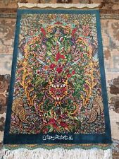 Persian rug qom/qum handmade/ Authentic Qom/ 100% pure silk with sign/ 500 KPSI