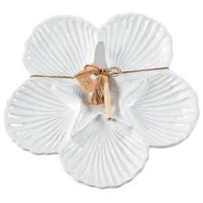 Mud Pie Home Natural Beauties Shell Cup Sand Dollar Dip Platter