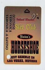 Las Vegas BINION'S HORSESHOE Casino SLOT CARD / Players Club Card WSOP - closed