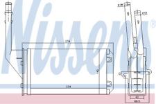 Heater Matrix Core 71143 PEUGEOT PEUGEOT 106 II Electric LHD