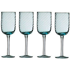 Set Of 4 Artic Blue Drinking Glasses White Red Wine Glass Drinks Champagne Gift