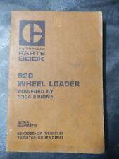 Cat Caterpillar 920 Wheel Loader Parts Book