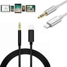 For iPhone 7 8 XR XS MAX 3.5mm AUX CABLE LEAD CAR Stereo TRANSFER Audio Music