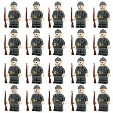 WWII GERMAN Soldiers + Weapons Mini Figures WW2 Military War Set Fit Lego