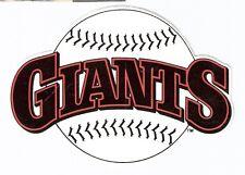 Original 1980'S San Francisco Giants 3.5x5 Logo Sticker