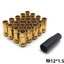 V48 M12X1.5 Steel Acorn Rim Extended Open End Wheel Racing Lug Nuts GOLD