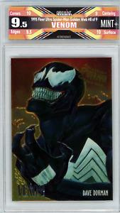 🌟 Venom 1995 Fleer Ultra Spider-man Premier Golden Web #8 Graded 9.5 Mint+