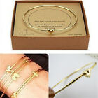 Women Fashion Jewelry Rhinestone Crystal Gold Silver Bangle Cuff Bracelet Gift