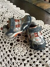 Stride Rite, Boys Toddler Blue Silver Sneakers, size 4 M