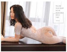 Sexy Erotic WHITE Lingerie Fishnet Bodystocking Teddy Bodysuit One Sz #P4