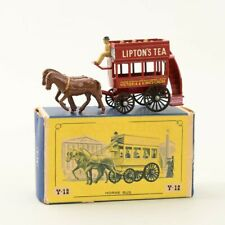 Vintage Matchbox Models of Yesteryear Y-12 London Lipton Horse Bus Original Box