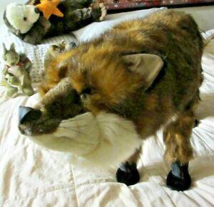 "ditz Fox Foot Stool Rest ottoman furry animal leg rest LifeLike standing 30""X17"""